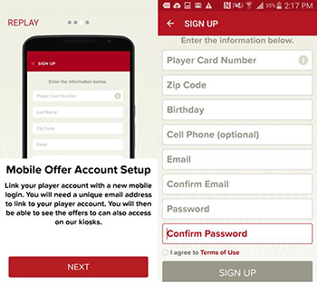 red hawk casino mobile app