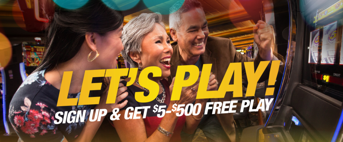 $5-$500 Free Play Sign Up